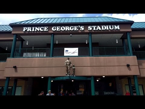Game-day tour of Prince George's Stadium (Bowie Baysox - Eastern League AA Baseball) in Maryland