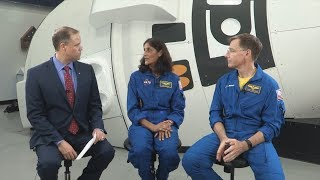NASA Administrator Jim Bridenstine talks to Commercial Crew Astronauts