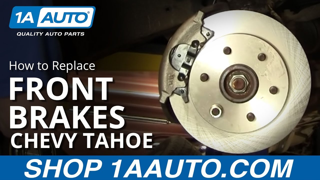 how to install replace front disc brakes chevy gmc pickup tahoe suburban 92 99 1aauto com youtube [ 1920 x 1080 Pixel ]