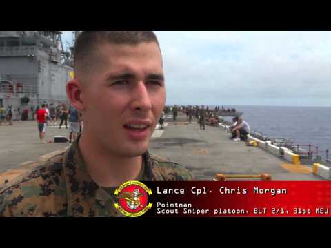 Marines, Sailors hit the steel beach