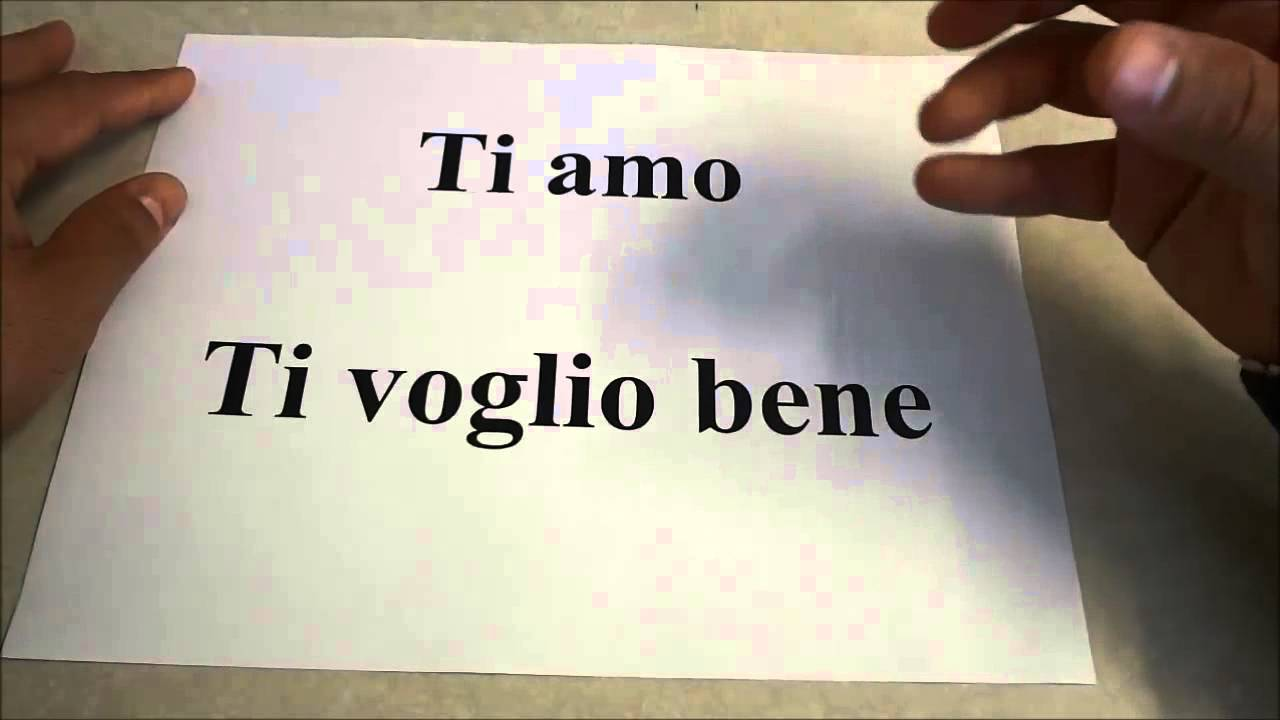 How To Say I Love You In Italian Language Lesson Youtube