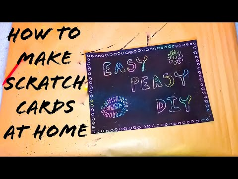 How to DIY SCRATCH PAPER, Easy at Home!!