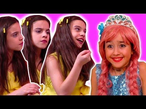PRINCESS CLONES 👭 Lilliana Makes Robot Versions of Herself! - Princesses In Real Life | Kiddyzuzaa