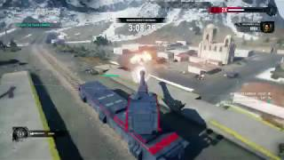 Just Cause 4 - Sandstinger: Train Robbery: Defend The Train With Mega Cannon Gameplay (2018)