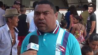 Vereador Luizinho inauguração quadra do Tomé