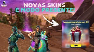 Fortnite-NEW SKINS and PRESENT MODE!