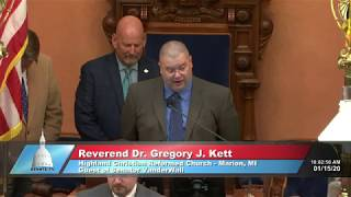 Sen. VanderWall welcomes Rev. Dr. Gregory Kett to the Michigan Senate