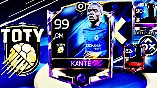 LAST TOTY PLAYER OPENING/ 99 KANTE - BEST TOTY STARTER GAMEPLAY REVIEW -Fifa mobile S2