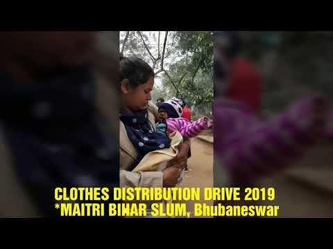 CLOTHES DISTRIBUTION DRIVE 2019,MAITRI BIHAR SLUM