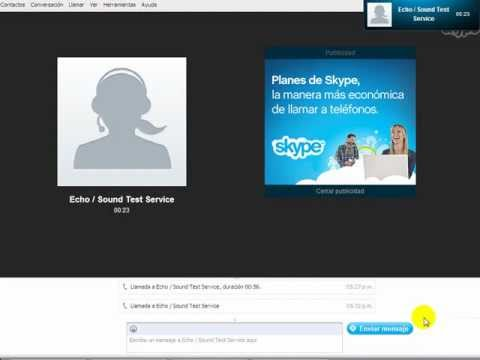 SKYPE:Echo/sound test service (español.) - YouTube