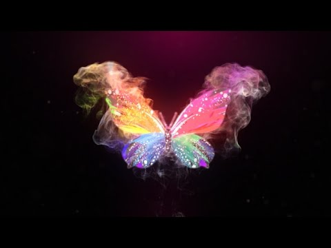 Glowing Butterfly Logo Reveal | After Effects template