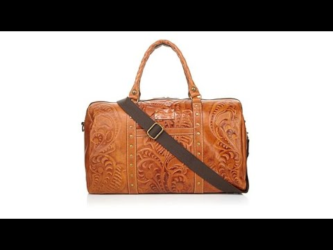 9724a1b0a Patricia Nash Milano Leather Weekender - YouTube