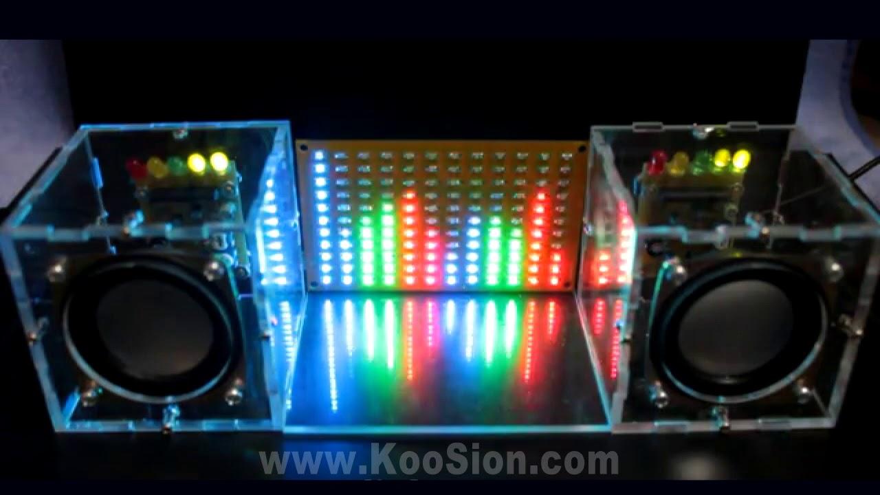 DIY KooSion LED Audio Spectrum Analyzer Digital Level ...