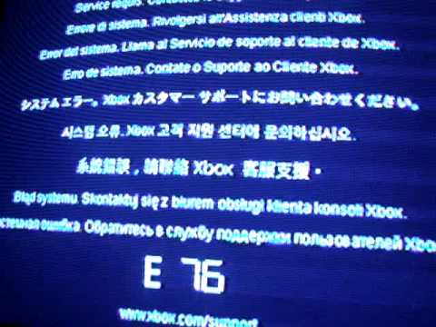xbox one red light system error E76 - YouTube