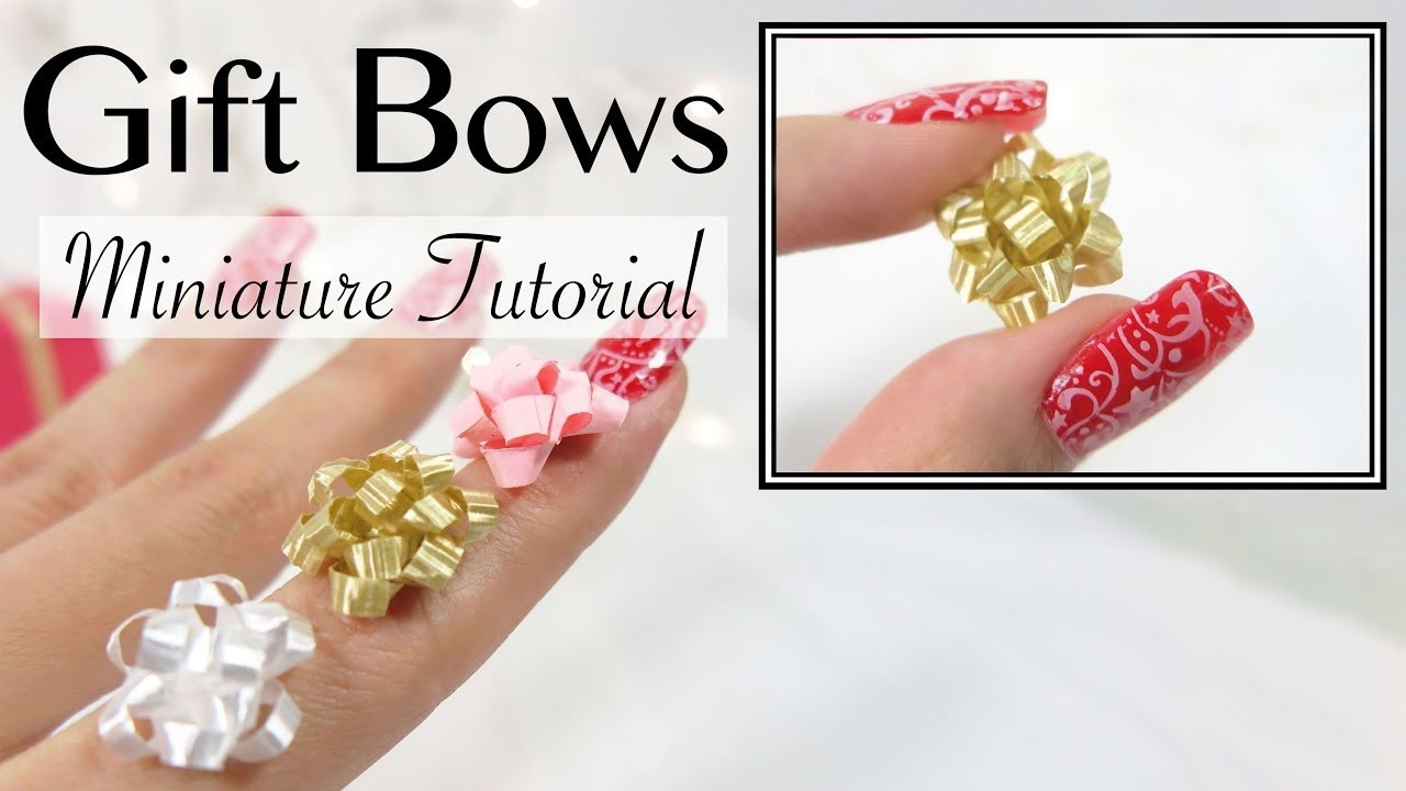 Diy Miniature Gift Bow Ribbon Tutorial Youtube