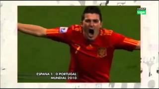 Goles de campo  de David Villa  con selección Española