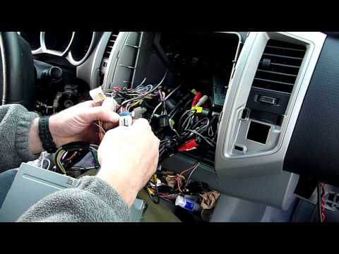 [SCHEMATICS_48YU]  part 2 Toyota tacoma radio dash kit and wiring installation - YouTube | In Dash Wiring Schematics For Toyota Trucks |  | YouTube
