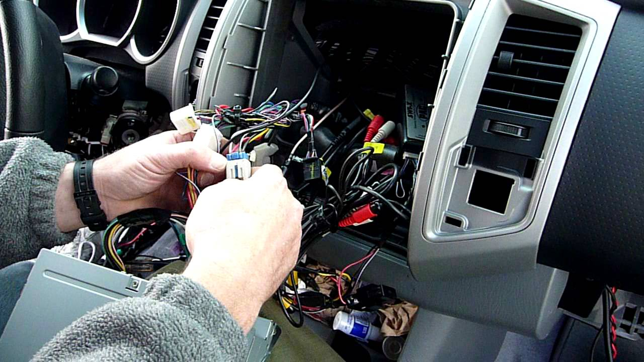 Toyota Hilux Stereo Wiring Diagram 2008 Data Flow Using Visio Part 2 Tacoma Radio Dash Kit And Installation - Youtube