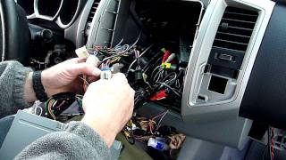 Part 2 Toyota Tacoma Radio Dash Kit And Wiring Installation Youtube