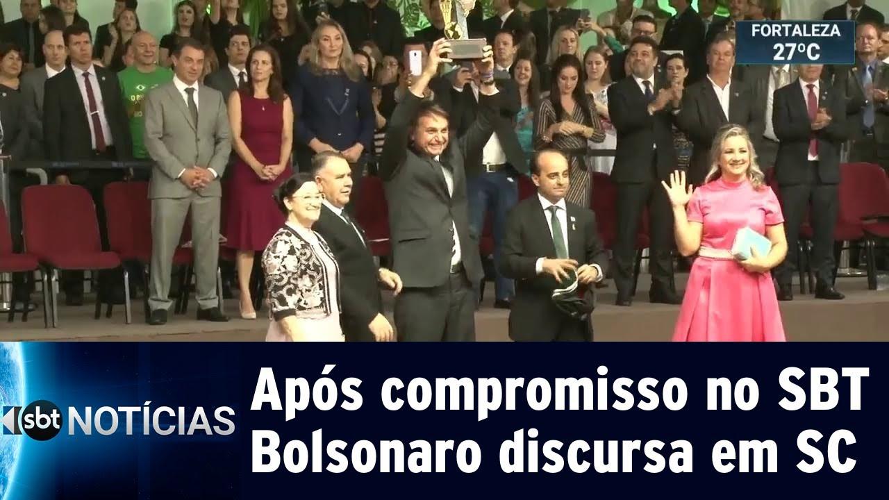 Bolsonaro diz que falta fé aos brasileiros durante evento religioso   SBT Notícias (03/05/19)