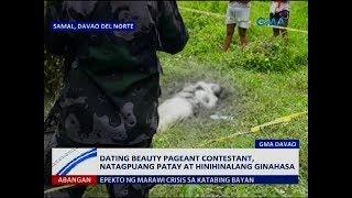 Saksi: Dating beauty pageant contestant, natagpuang patay at hinihinalang ginahasa