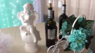 оформление голубой свадьбы в кафе