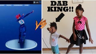 FORTNITE DANCES/ IN REAL LIFE WITH THE DAB KING
