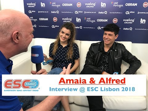 Amaia & Alfred (Spain) interview @ Eurovision 2018 Lisbon | ESC Radio