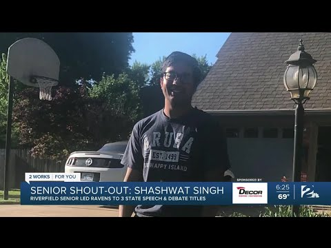Senior Shout-out: Shashwat Singh, Riverfield Country Day School