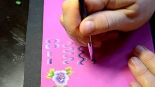 """Учимся """"китайке"""" 1 урок, часть 1 Дизайн ногтей. One-stroke."""