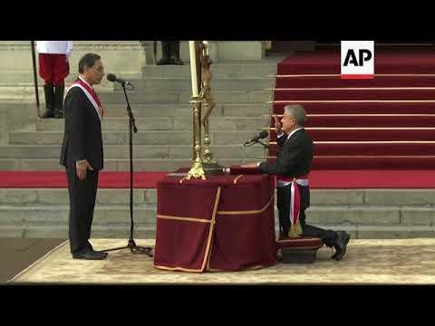 Peru's President Vizcarra swears in new Cabinet