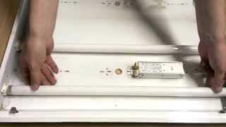 видео Потолочный светильник с люминесцентными лампами