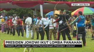 Aksi Presiden Jokowi Saat Memanah; Sang Pelatih pun Mengaku Puas | CNN Indonesia