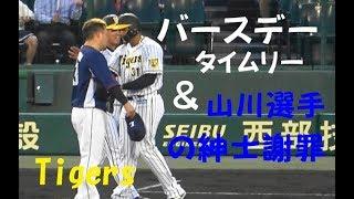 阪神 マルテ『バースデータイムリー & 山川 紳士謝罪!』vs 西武 2019年6月21日甲子園球場