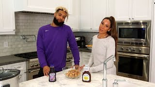 Odell Beckham jr. and his Mother Heather shares Super Bowl Sunday party grape jelly meatball recipe