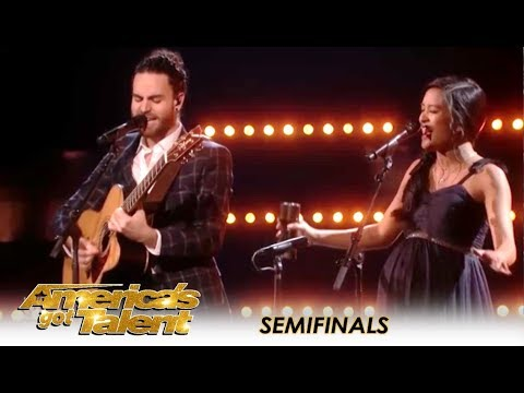 Us The Duo: Highly Pregnant Singing Couple FIGHT For A Spot In The Final | America's Got Talent 2018