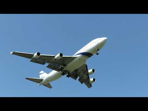 Boeing 747-400 EL AL landing to Bucharest Airports / Henri Conada /Spotting Romania