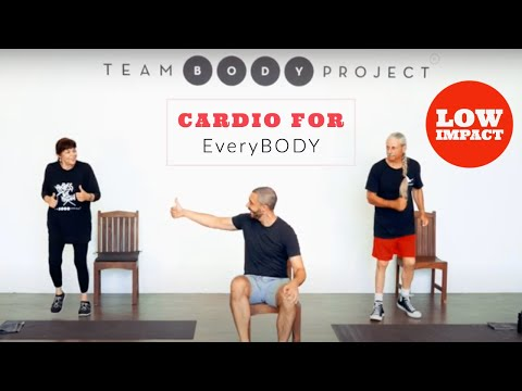Low impact, high intensity cardio workout (for seniors and ALL starters)