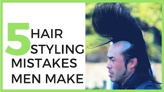 Top 5 Hair Styling Mistakes Men Make & How To Fix Them
