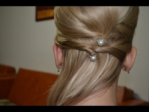 Easy Updo For Medium Long Hair Coafura Ocazie Par Mediu Youtube