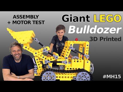 0 - Gigantischer 3D-gedruckter Lego-Bulldozer