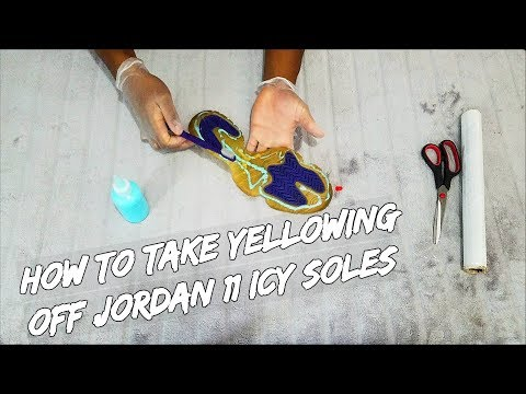 How To Take Yellowing Off Jordan 11 Icy Soles
