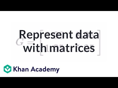 Representing data with matrices | Matrices | Precalculus | Khan Academy