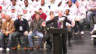 Senator Richard Codey @ the Giants Super Bowl XLII Victory Rally Footage