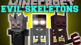 Minecraft: EVIL SKELETONS (HEROBRINE SKELETON, LORD OF SKELETONS, & DEVIL SKELETON) Mod Showcase