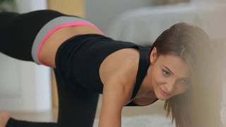 Hot Yoga Girl Alexis Brill  Stretching out at morning