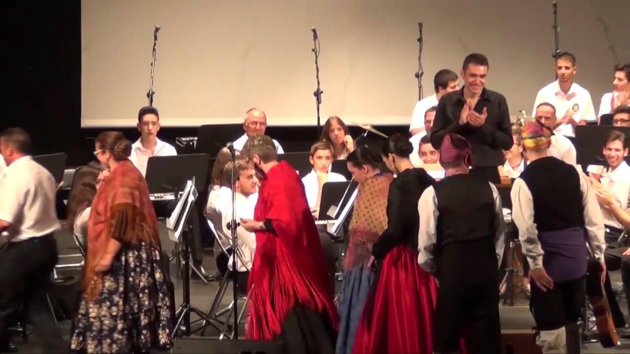 Fiestas Puerto Sagunto 2015 Actuación Centro Aragones y Union Musical Porteña