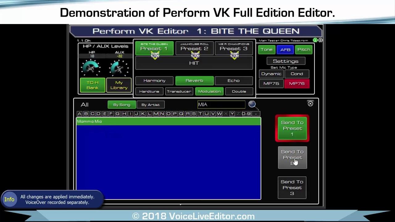 Perform VK Editor Full Version Demostration