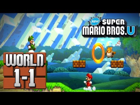 new super mario bros u world 1 1 100 youtube