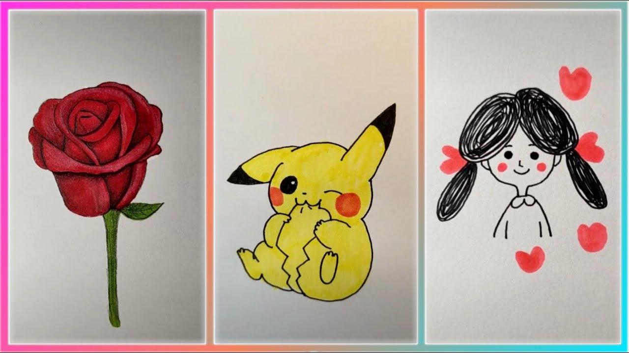 Cách Vẽ Những Hình Dễ Thương ♡ Vẽ Hình Cute    Từng Bước Đơn Giản Nhất